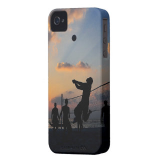 Beach Volleyball at Sunset iPhone 4 Case-Mate Case