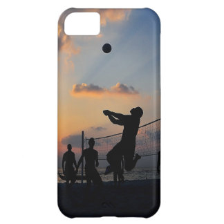 Beach Volleyball at Sunset iPhone 5C Covers