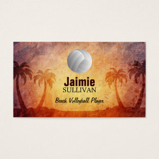 Beach Volleyball Business Cards