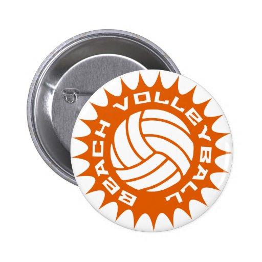 Beach Volleyball Pinback Buttons