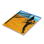 Beach Volleyball Ceramic Tiles
