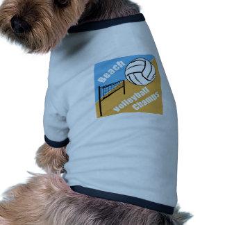 Beach Volleyball Champs Pet T-shirt