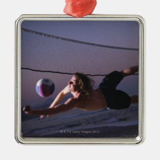 Beach Volleyball Game 2 Ornament