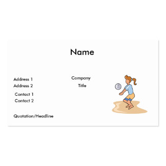 beach volleyball girl Double-Sided standard business cards (Pack of 100)