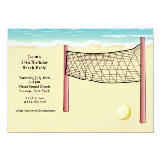 Beach Volleyball Invitation