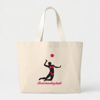 beach volleyball jumbo tote bag