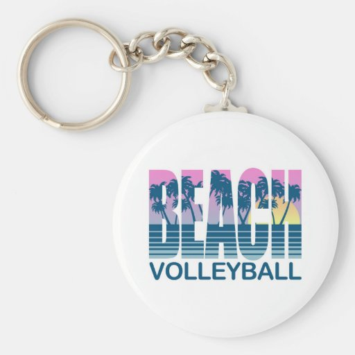 Beach Volleyball Keychains