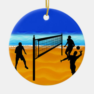 Beach Volleyball Christmas Ornament
