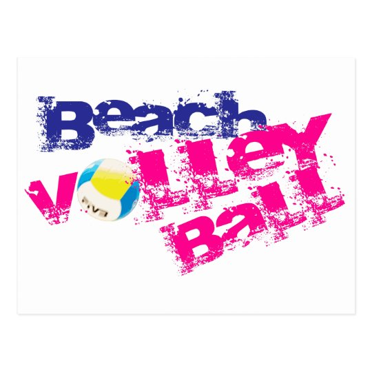 Beach Volleyball Postcard