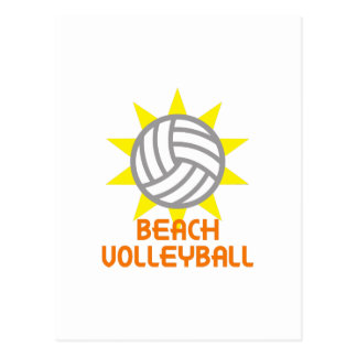 BEACH VOLLEYBALL POSTCARD