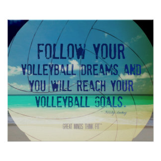 Beach Volleyball Poster 018 for Motivation