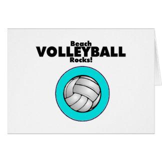 Beach Volleyball Rocks Card