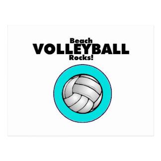 Beach Volleyball Rocks Postcard