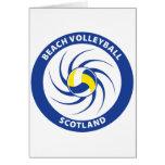 Beach Volleyball Scotland Greeting Card