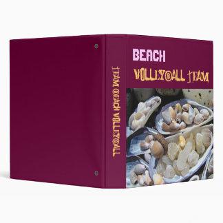 BEACH Volleyball Team binders Gameplan Tournaments