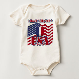 Beach Volleyball USA Baby Bodysuit
