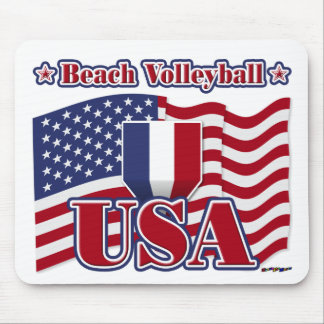 Beach Volleyball USA Mouse Pad