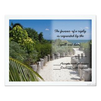beach walk bw rsvp card