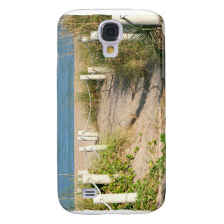 Beach walk dune roped off Florida Beach Color Galaxy S4 Cover