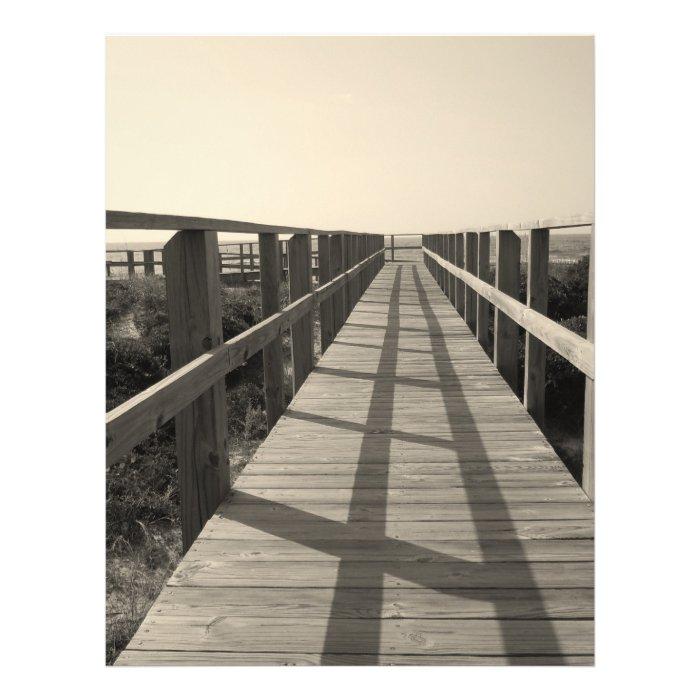 Beach Walk in Sepia Flyer