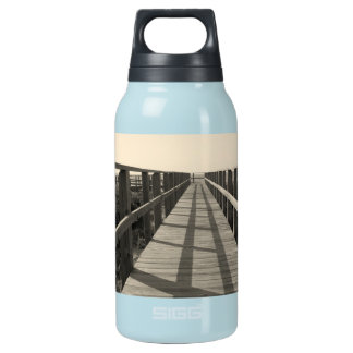 Beach Walk in Sepia Insulated Water Bottle