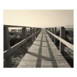 Beach Walk in Sepia Photo Art