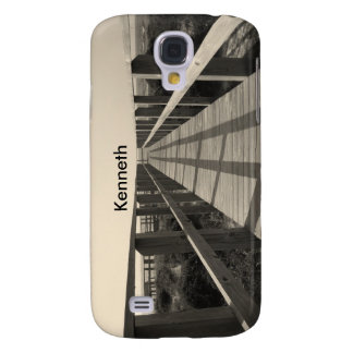 Beach Walk in Sepia Samsung Galaxy S4 Cover