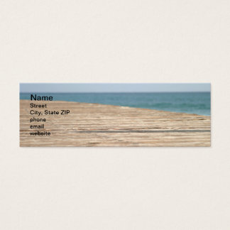 Beach Walk Mini Business Card