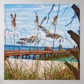 Beach Walk Poster