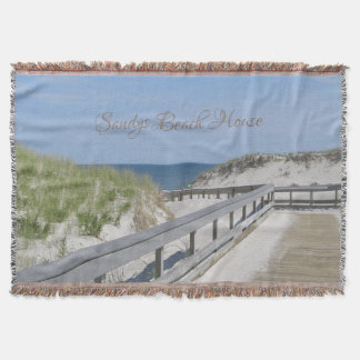 Beach Walk Through the Dunes Throw Blanket