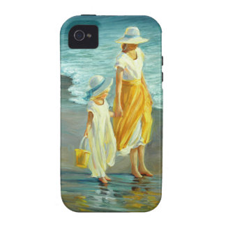 Beach Walking With Mom iPhone 4/4S Covers