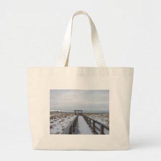 Beach Walkway Jumbo Tote Bag