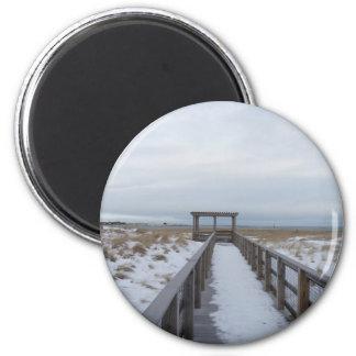 Beach Walkway Refrigerator Magnet