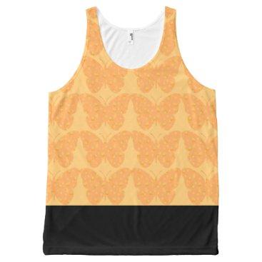 Beach Themed Beach-Ware-Butterflies--Cream-Pop(c)--Tank-Top All-Over-Print Tank Top
