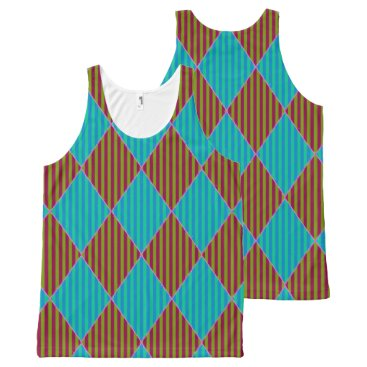 Beach-Ware-Diamond-Bright's(c)-Tank-Top All-Over-Print Tank Top