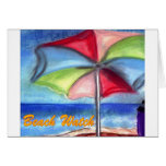 Beach watch Umbrella Greeting Cards