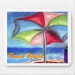 Beach watch Umbrella Mouse Pads