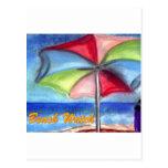 Beach watch Umbrella Post Cards