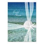 "Beach Water Starfish Bridal Shower Invitation 5"" X 7"" Invitation Card"