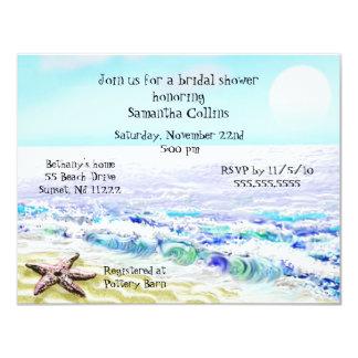 Beach Watercolor Bridal Shower Invitation