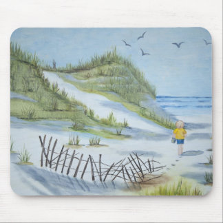 Beach watercolor mouse pad