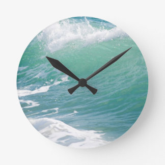 Beach Wave Round Clock