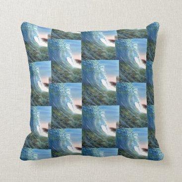 Beach Themed Beach wave throw pillow