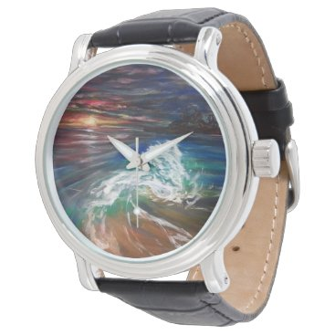 Beach Themed beach wave wrist watch