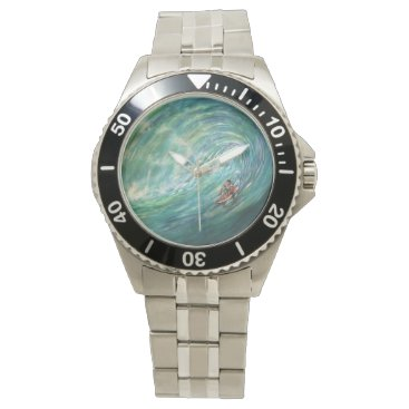 Beach Themed beach wave wristwatch