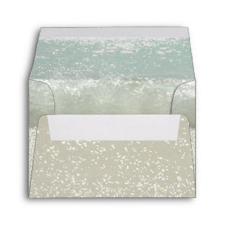 beach waves and seashore sand envelopes for RSVP