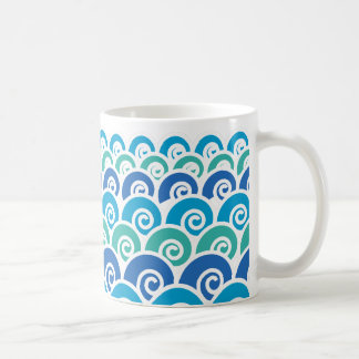 Beach Waves Blue Coffee Mug