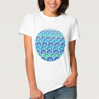 Beach Waves Blue Shirt