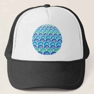 Beach Waves Blue Trucker Hat