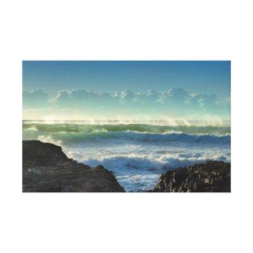 Beach Themed Beach Waves Canvas Print